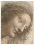 Moving-art - Leonardo da Vinci - The Head of the Virgin - Drawing - Chalk Charcoal - The Metropolitan Museum of Art